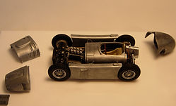 1:43-Scale, Super-detailed, Hand-built Model of the Lancia D50, 1954 Test