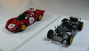 1:43-Scale, Super-detailed, Fully-opening, Hand-built Models of the Ferrari Dino 206 SSpyder by Pierre Laugier, LP Creation