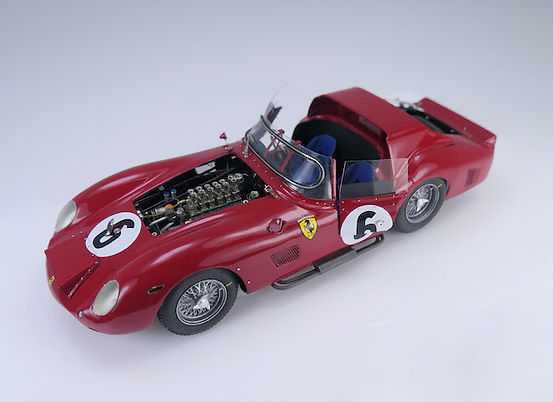 1:43-Scale, Super-detailed, Scratch-built Model of the Ferrari 330 TRI, Winner Le Mans 1962, by Pierre Laugier
