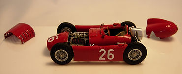 1:43-Scale, Super-detailed, Hand-built Model of the Lancia D50, 1955 Monaco Grand Prix