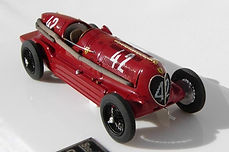 1:43-Scale, Super-detailed, Fully-opening, Hand-built Model of the Alfa Romeo Bimotore, 1935