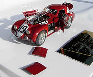 One-off, 1:43-Scale, Scratch-built Model of the Alfa Romeo 8C 2900B Coupe, Le Mans 1938