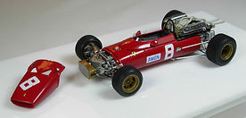 1:43-Scale, Super-detailed, Hand-built Model of the Ferrari 312 F1 by Pierre Laugier, LP Creation