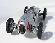 1:43-Scale, Super-detailed, Fully-opening, Hand-built Model of the Auto Union Type C, Winner of the 1936 German Grand Prix