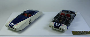 Two 1:43-Scale, Super-detailed, Hand-built Models of the Cadillac Spider 'Le Monstre', Le Mans 1950