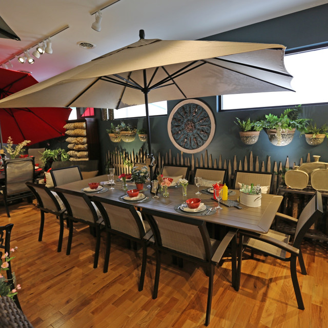 Telescope Casual Bazza Dining with 120_ Rectangular Extension Table
