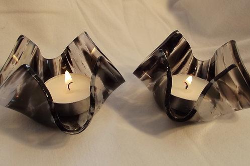 """Night Sky"" Candle bowl set of 2"