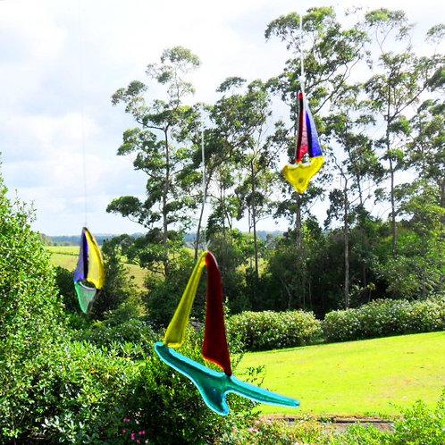 """Sailing"" Garden or Window Art Hanging Sculpture (c) Darrell Ryan"