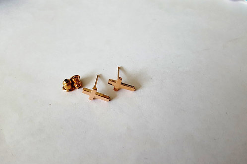 Petite Cross Earring Studs available in Silver, Rose Gold or Gold