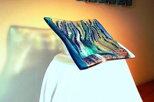 Waters Edge - Art Glass Bowl (c) Darrell Ryan