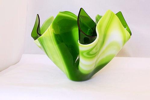 """""""Lime Swirl"""" Art Glass Vase"""