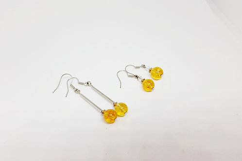 Citrine Semi-Precious Gemstone Earrings