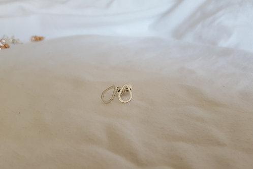 Silver drop - fine Silver Petite Earring Studs