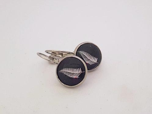 Silver Fern  .925 fine Silver or 18k fine Gold Leverback Earrings