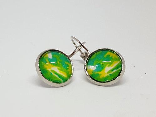 Greenscape Earrings - silver Leverback Earrings