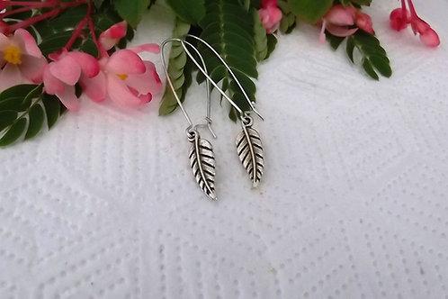 Silver Fern Earrings - Long or Short .925 fine Silver Fitting
