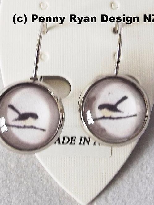 Fantails .925 fine Silver or 18k fine Gold Leverback Earrings