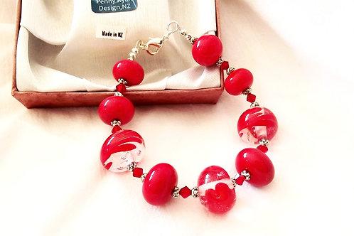 Red Murano Glass Bracelet
