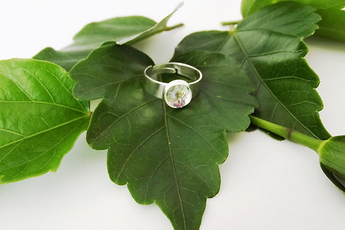 Beautifully sparkly Crystal Art Glass Adjustable Ring