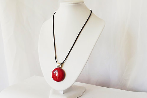 Glossy Red Art Glass Pendant