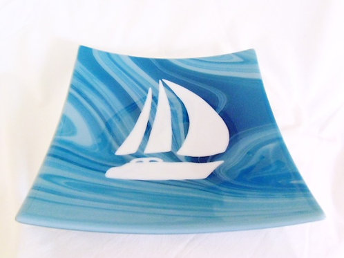 """Sailing Southern Seas"" - Bowl/Serving Platter/ Art"
