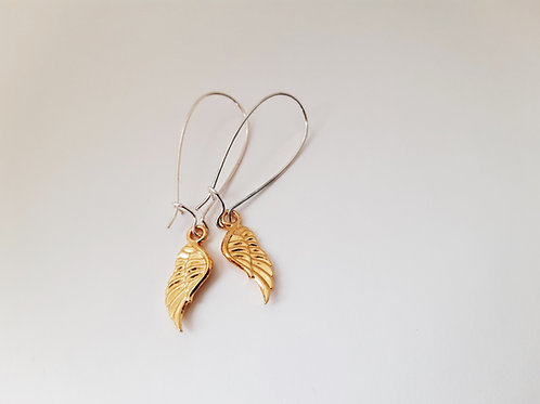Silver and Gold Angel Earrings