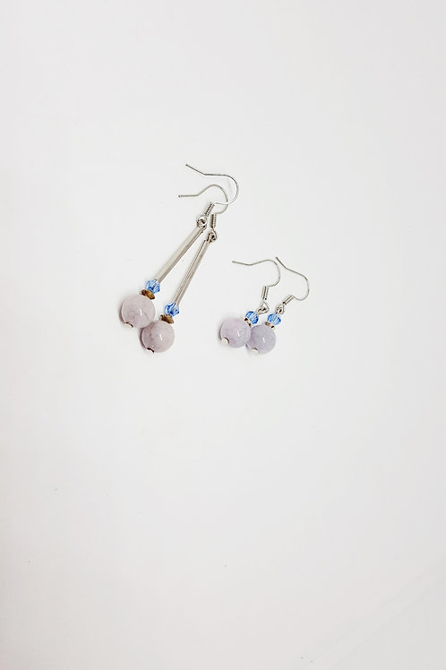 Aquamarine Semi-Precious Gemstone Earrings
