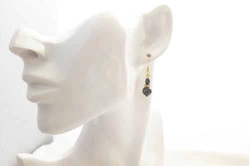 Stunning Cultured Black Pearl Drop Earrings