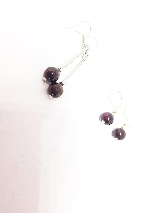 Garnet Semi-Precious Gemstone Earrings