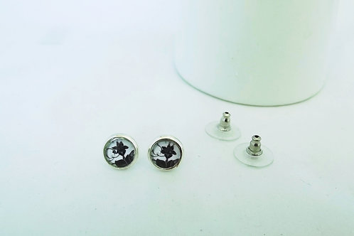 Lily - Silver Earring Studs