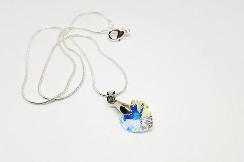 Sparkle! Swarovski 14mm AB Crystal Heart Pendant