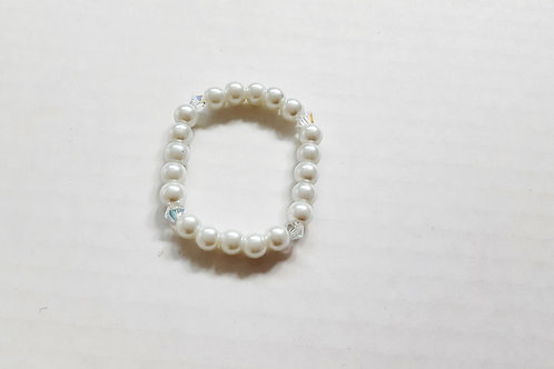 Gorgeous White Pearl & Crystal Bracelet