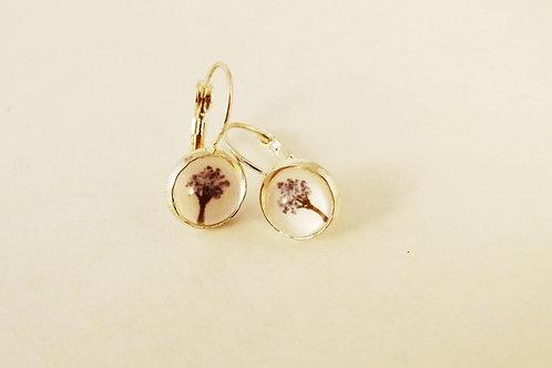 Kauri Tree Earrings in .925 fine silver or 18k fine Gold