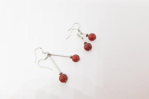 Carnelian Semi-Precious Gemstone Earrings