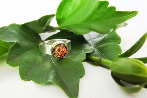 Sunset Art Glass Adjustable Ring