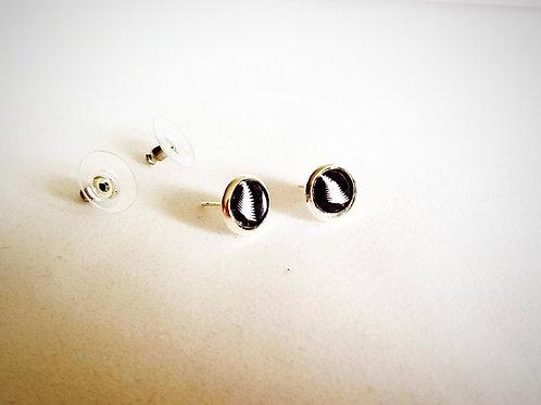 Silver Fern - Silver Earring Studs