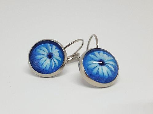 Daisy Earrings - silver Leverback Earrings