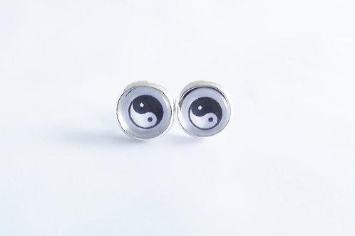 Yin Yang - .925 fine silver Earring Studs