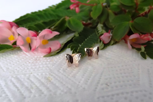 Rose Gold Butterfly Earring Studs