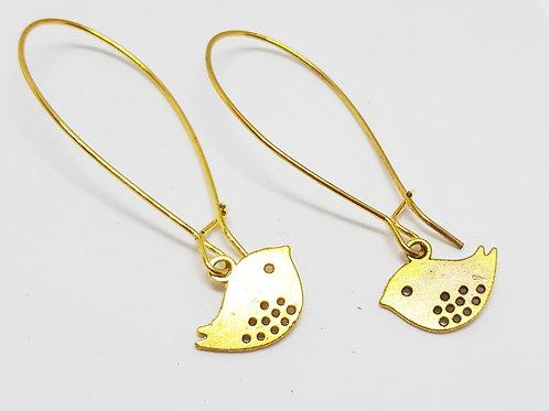Golden Birds - Drop Earrings