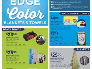 EDGE TO EDGE COLOR TOWELS