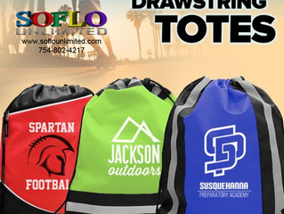 "Drawstring Totes - An easy ""go to"" for Brand Awareness"
