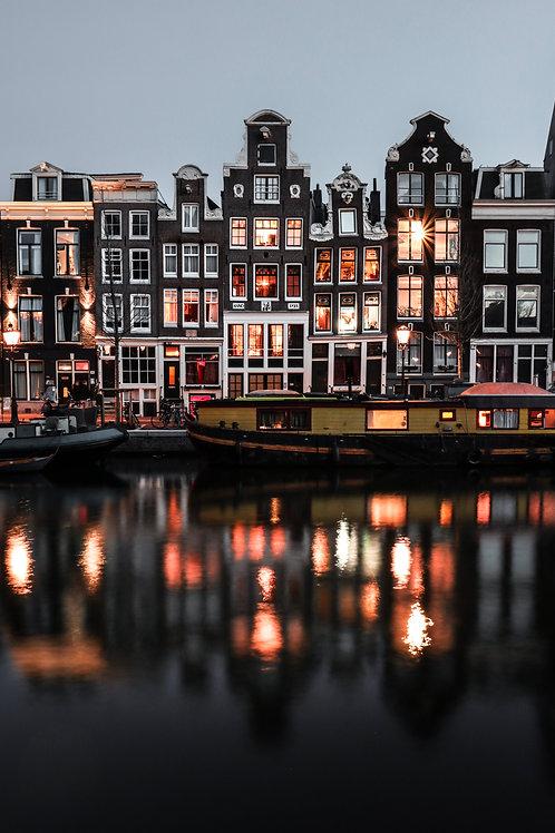 Amsterdam Night Reflections