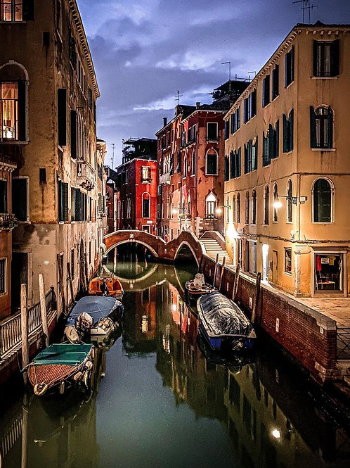 Venice canals by night