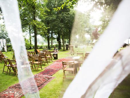 Bruiloft tuinfeest