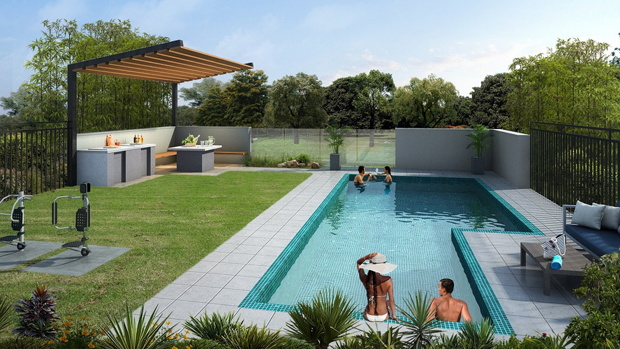 Community Pool and BBQ Area