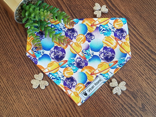 Planets Print Bandana with fully reversible backing Priced From