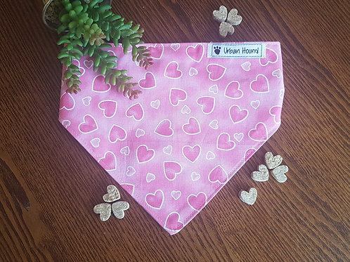 Pink Heart Print Bandana From