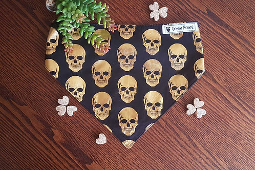 Gold Skulls Print Bandana From $15