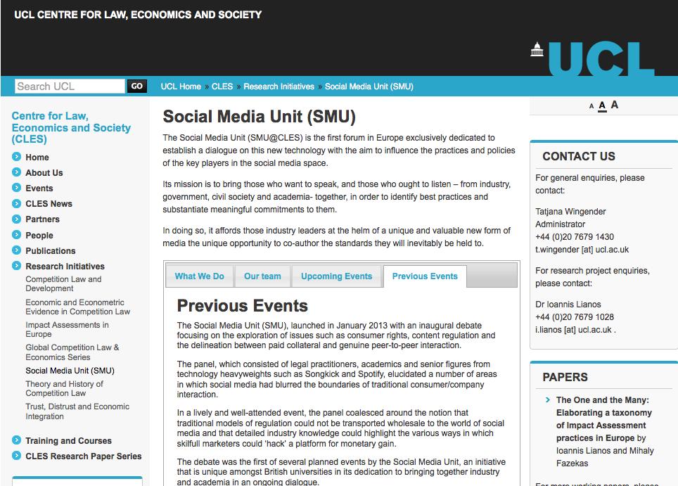 Social Media Unit